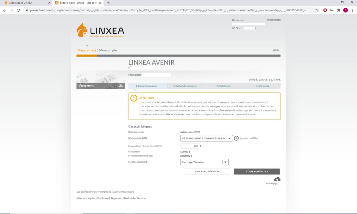 Linxea-32-versement